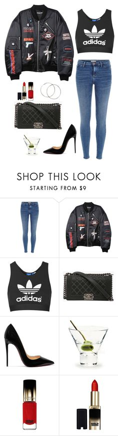"""Hit the dance floor"" by eellcat ❤ liked on Polyvore featuring River Island, Hyein Seo, Topshop, Chanel, Christian Louboutin, iittala and L'Oréal Paris"