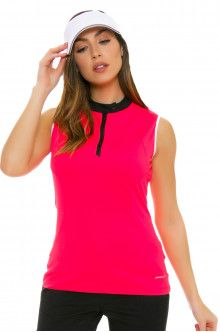 Annika Women's Trellis Senna Mock Golf Sleeveless Shirt
