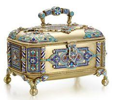 Enamel box by Sergei Nazarov