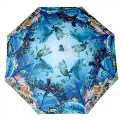 Click on the image to find out this blue and exotic #fishes printed #kids #umbrella.