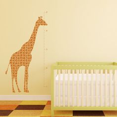 Growth Chart Vinyl Wall Decal Giraffe Puzzle by byrdiegraphics, $42.00