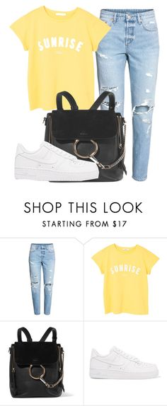 """Outfit #1747"" by lauraandrade98 on Polyvore featuring MANGO, Chloé and NIKE"