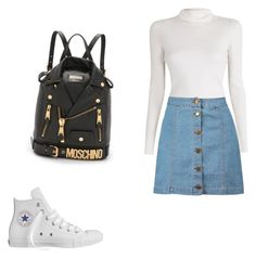 by xilasia on Polyvore featuring polyvore, fashion, style, A.L.C., Boohoo, Converse and Moschino