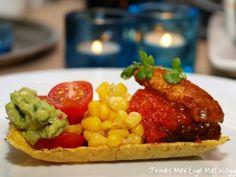 » Kyllingtaco med bønner og gulrot