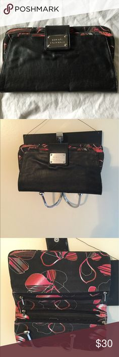 Armani exchange clutch Clutch with pockets. Purchased new in this condition A/X Armani Exchange Bags Clutches & Wristlets