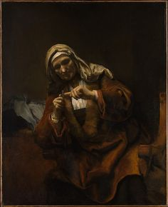 Old Woman Cutting Her Nails Style of Rembrandt (Dutch, second or third quarter 17th century) Date: ca. 1655–60