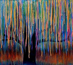 colorful weeping willow