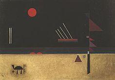 Painter Wassily Kandinsky. Painting. Brownish. 1931 year