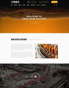 Zidex - Industrial & Factory WordPress Theme - ModelTheme Beer Factory, Lorem Ipsum, Wordpress Theme, Industrial, Industrial Music