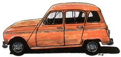Renault 4L - Illustration by Carl Johan Rehbinder [my first car]