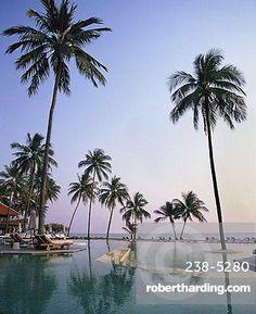 Pool, Evason Resort and Spa, Pranbur, Hua Hin, Thailand, Southeast Asia, Asia