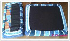 DIY Goedkoop en eenvoudig de kussens  van de caravan opnieuw bekleden? Klik op de website om te zien hoe je dat kunt doen. tutorial 101creaties