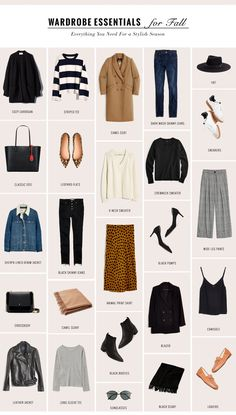 The Perfect Fall Wardrobe Capsule For a Chic Season - gaby burger Capsule Wardrobe Women, Capsule Outfits, Fashion Capsule, Mode Outfits, Fashion Outfits, Womens Fashion, Work Wardrobe, Petite Fashion, Professional Wardrobe