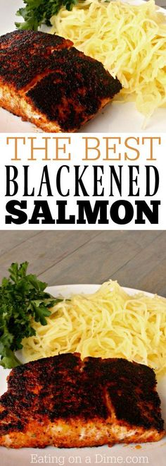 You are going to love this easy fish recipe - This blackened salmon recipe is ready in 6 minutes and tastes amazing! The best salmon recipe you will make! #blackenedsalmon #healthydinner #salmon #eatingonadime