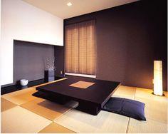 【住宅メーカー】大成建設ハウジング 「琉球畳」「和室」「和照明」 Modern Japanese Interior, Modern Japanese Architecture, Japanese Furniture, Japanese Living Rooms, Japanese House, Floor Design, House Design, Tatami Room, Zen Room