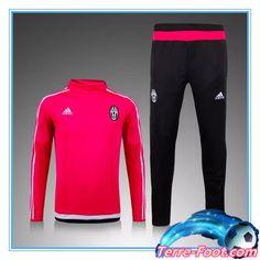 Nouveau Survetement de foot Juventus Rouge 2015 2016