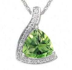 Yellow Gold Round Brilliant Cut Diamond Necklace Diamond With 18 Inch Box Chain @ Jewelry @ Smart Shop Buy dot com Peridot Jewelry, Peridot Necklace, Green Necklace, Pendant Necklace, Titanic Jewelry, Birthstones, White Gold, Bling, Pendants