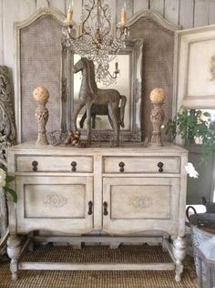"""French Antique Buffet!!"" x"