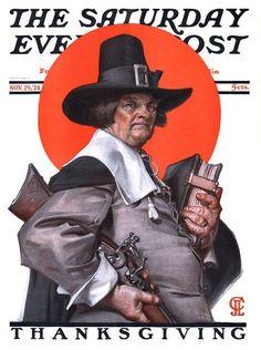 JC Leyendecker Nov 29 1924 Saturday Evening Post Print Cover 13x17 Thanksgiving   eBay