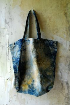 recycled cotton canvas market tote hand dyed fair by enhabiten