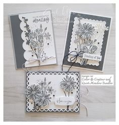 Color Contour, Image Paper, Stamping Up Cards, Tampons, Sympathy Cards, Flower Cards, Cute Cards, Greeting Cards Handmade, Homemade Cards