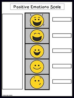 FREE! Positive Emotions Scale  http://www.teacherspayteachers.com/Product/Positive-Emotions-Scale-2419342