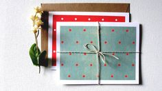 Pack of 10 / Assorted Holiday Greeting Cards / Blank by punchpaper