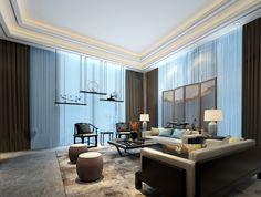 新中式客厅living room