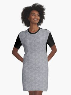 """Ultimate Gray #3"" Graphic T-Shirt Dress by Kettukas 
