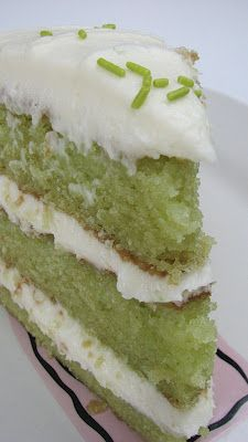 Trisha Yearwood's Key Lime Cake I've heard that it's awesome!  This would be fun for St. Patrick's Day!