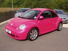 pink vw beetle i love it my style pinterest wheels pink and i want. Black Bedroom Furniture Sets. Home Design Ideas