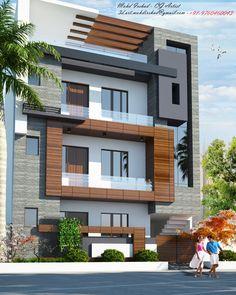 Flat House Design, House Balcony Design, House Outer Design, 3 Storey House Design, Bungalow House Design, House Front Design, Architecture Building Design, Home Building Design, Facade Design