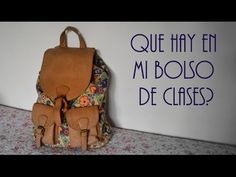Regreso a Clases 2014    ¿Qué hay en mi mochila? could make GAME out of it: s write 5 things they thing she's going to pull out of her backpack -- can you get all 5?