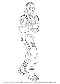 Learn How to Draw Asuma Sarutobi from Naruto (Naruto) Step by Step : Drawing Tutorials