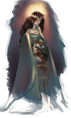 Yavanna & Aiwendil (Radagast). Awww! I always thought of the Valar having to raise at least some of the Maiar like children!