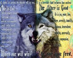 Be ever careful which wolf you are feeding...