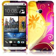 BasAcc - Hard Rubberized Design Cover Case For HTC One M7 - Splendid Swirl - Splendid Swirl - Larger Front