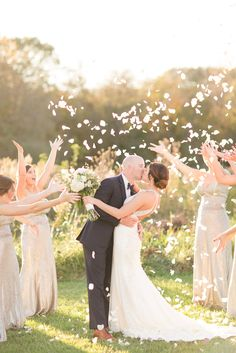 How I got the shot | Cinnamonwolfe.CO | Photography Education | How to capture petals thrown in the air | Wedding inspiration | camera settings | Backlight  http://www.cinnamonwolfe.co/blog/how-i-got-the-shot-celebration