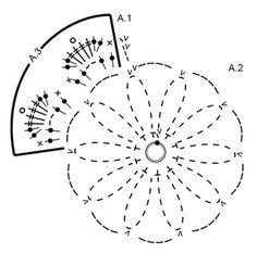 "Floral Toast - Podstawka pod kubek DROPS na szydełku, z włóczki ""Muskat"". - Free pattern by DROPS Design"