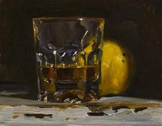 Whisky and quince. 11-25-14	   A deserved drink after my four hour sleep of last night!