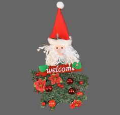 Christmas at Winterland WL-BAT/SANTA-31 Multicolor Santa 31 Inch Battery Operated Santa Claus Hanging Welcome Arrangement WL-BAT/SANTA-31. Christmas at Winterland WL-BAT/SANTA-31 31 Inch Battery Operated Santa Claus Hanging Welcome ArrangementBring some holiday cheer to your business or home with this 31 inch battery operated Santa welcome ornament. This whimsical ornament is lit with fiber optic lights with three AA batteries (sold separately).Christmas at Winterland WL-BAT/SANTA-31…