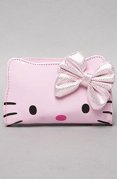 The Hello Kitty Dot Bow Patent Wristlet in Pink by *Accessories Boutique