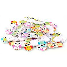 Hot 100PCs Mixed Wooden Buttons Cute Bird Pattern Decoration Buttons 2 Holes Sewing Accessories botones Craft DIY Scrapbooking >>> Find out more about the great product at the image link.