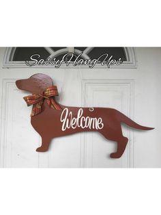 Dachshund Door Hanger, Dog Door Hanger, Dog Door Decoration, Dachshund, Welcome Sign, Weenie Dog Hanger, Doxie door hanger