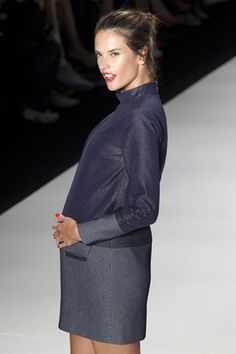 Alessandra Ambrosio Pregnant On Colcci Catwalk - Sao Paulo (Vogue.com UK)