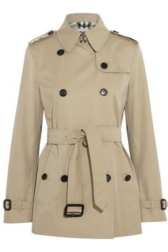 Burberry London short cotton twill trench