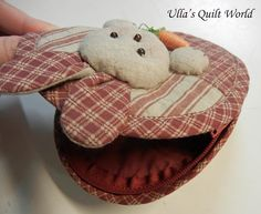 Ulla's Quilt World: Quilted rabbit pouch 2, Japanese patchwork
