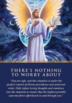 So comforting !!!Oracle Card There's Nothing to Worry About | Doreen Virtue | official Angel Therapy Web site