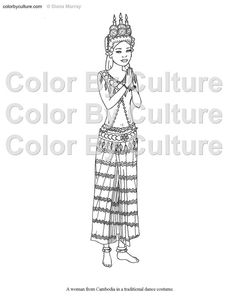 Fashion Coloring Book Printable Around The By ColorByCulture