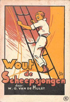 Wout de Scheepsjongen,geschreven door W.G. van de Hulst. 7e druk. Uitgegeven in 1954 door Callenbach - Nijkerk
